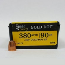 .380acp  Caliber  90gr GDHP Speer #3992