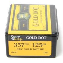 .357 Caliber SIG 125gr GDHP Speer #4360 100/bx