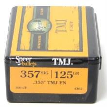 .357 Caliber SIG 125gr Speer #4362 100/bx
