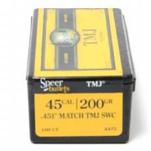 .45  Cal;iber  200gr TMJ SW Speer #4475