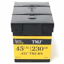 .45 Caliber 230gr TMJ Speer #4750 300/bx