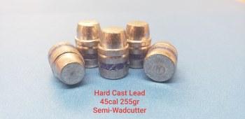 .45  Caliber  255gr.  SWC 500ct.  XTB Lead Bullet