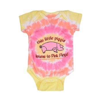 Pink Floyd Kids Lil Piggy Tie Dye Onesie