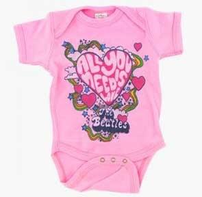 The Beatles Kids Need Love Pink Onesie