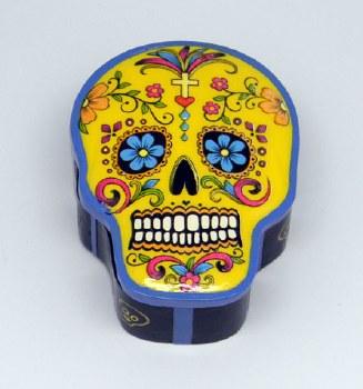 Day of the Dead Yellow Sugar Skull Box