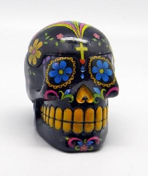 Day of the Dead Black Sugar Skull 3D Box