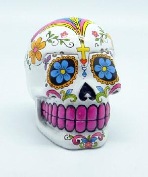 Day of the Dead White Sugar Skull 3D Box