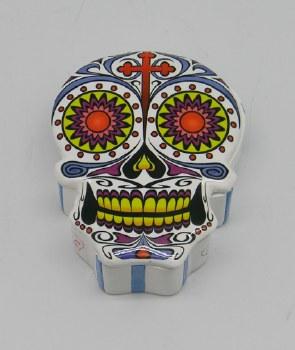 Day of the Dead Skull White Sugar Skull Box