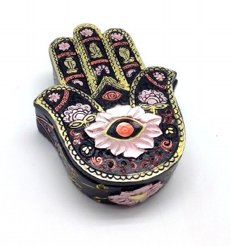 Hamsa Hand Gold Box