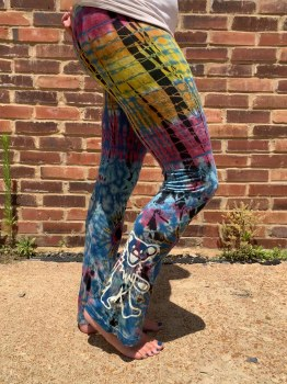 Grateful Dead Dancing Bear Tie Dye Yoga Pants