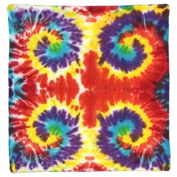 Multiple Spiral Tie Dye Bandana