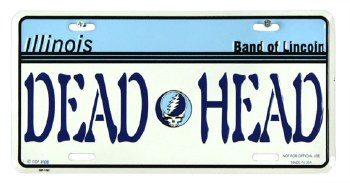 Grateful Dead IL License Plate