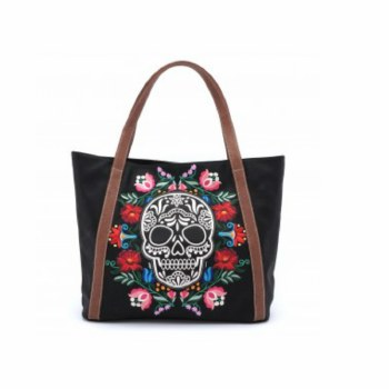 Floral Sugar Skull Tote Bag by Loungefly