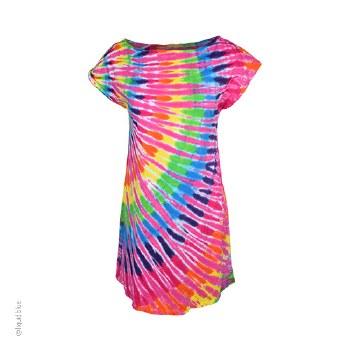 Tie Dye Pink Streak Dress S/M