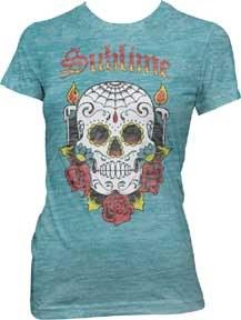 Sublime Ladies Skull Burnout