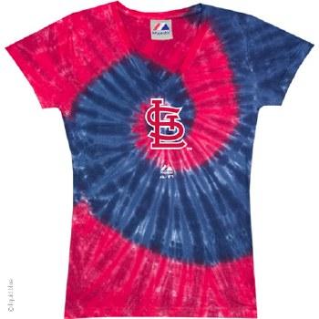 St. Louis Cardinals Ladies Spiral Tie Dye