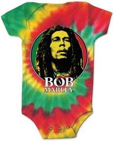 Bob Marley Kids Tie Dye Circle Onesie