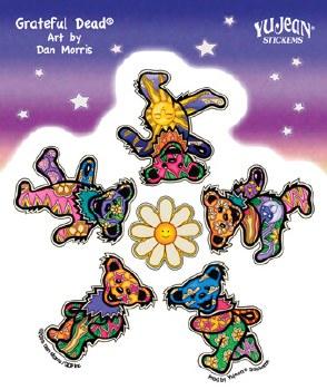 Grateful Dead Daisy Dancing Bear Sticker