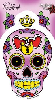 Sugar Skull Heart Locket Sticker