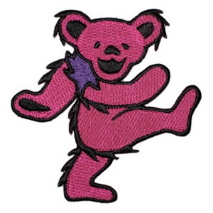 "Grateful Dead Bear Pink 3.5"" Patch"