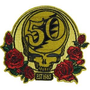 Grateful Dead 50th Anniversary Metallic Red Patch