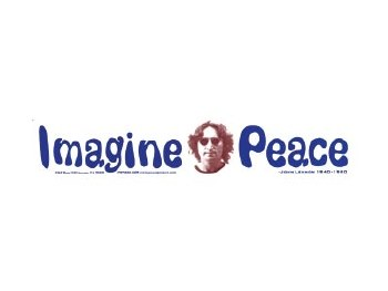 Lennon Imagine Peace Bumper Sticker