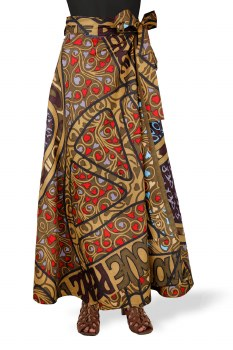 Peace Sign Wrap Skirt