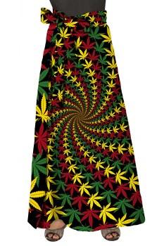 Skirt - Leaf Vortex Wrap