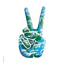 Peace Earth Sticker