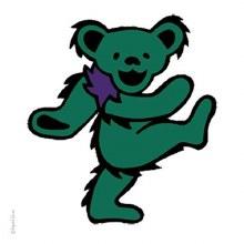 Grateful Dead Green Dancing Bear Sticker