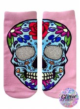 Glitter Day of the Dead Socks