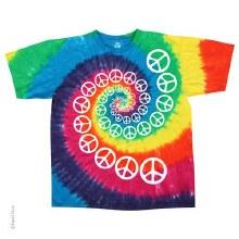Rainbow Spiral Peace Tie Dye