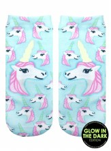 Glow in the Dark Unicorn Pastel Socks