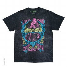 Janis Joplin Charlotte 69 Blacklight Tie Dye