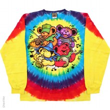 Grateful Dead Bear Jamboree Tie Dye Long Sleeve