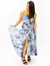 Tie Dyed Wrap Dress