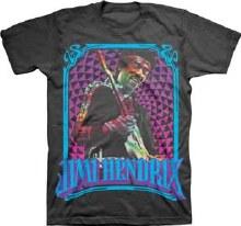 Jimi Hendrix Fractal Frame Black