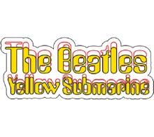 The Beatles Yellow Submarine Logo Sticker