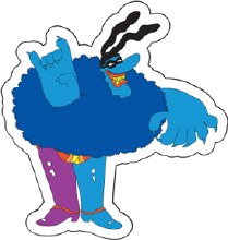 The Beatles Chief Blue Meanie Sticker