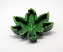 Leaf Shaped Resin Ashtray