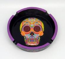Multi Color Sugar Skull Resin Ashtray
