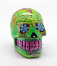 Day of the Dead Green Sugar Skull 3D Box