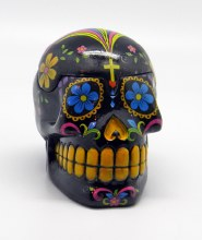 Day of the Dead Black Sugar Skull 3D Box