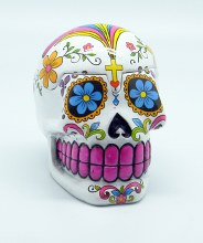 Day of the Dead White Sugar Skull 3D Box