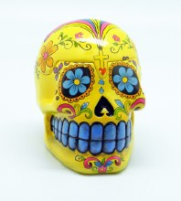 Day of the Dead Yellow Sugar Skull 3D Box