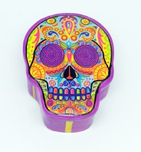 Day of the Dead Multi Color Skull Box
