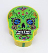 Day of the Dead Green Sugar Skull Box