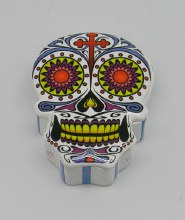 Day of the Dead Skull White Sugar Skull Box