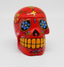 Day of the Dead Red Sugar Skull 3D Box