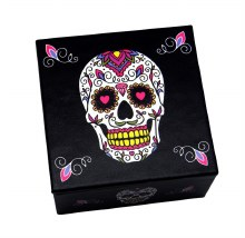 Day of the Dead White Sugar Skull Mirror Box